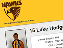 Hawthorn Football Club Player Portal